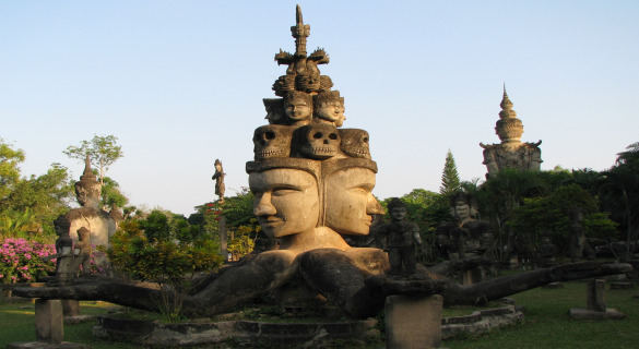 Buddha Park, also known as Xieng Khuan near Vientiane, Laos